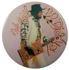 Bo Diddley - 'Hey' Button Badge